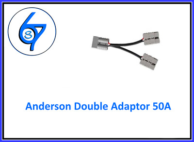 AU21.95 • Buy Anderson Plug Double Adaptor Extension 50A 12V Cable Professionally Factory Made