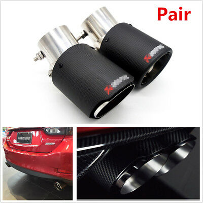 $ CDN151.93 • Buy Pair Angle Adjustable Carbon Fiber Car Vehicle Exhaust Pipe Muffler Tip Modified