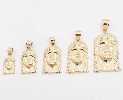 $89.32 • Buy Men's Diamond Cut Jesus Head Charm Pendant Real Solid 10K Yellow Gold ALL SIZES