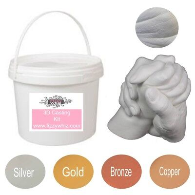 3D Casting Kit Holding Hands Family - Moulding Powder Plaster Mixing Bucket • 29.99£