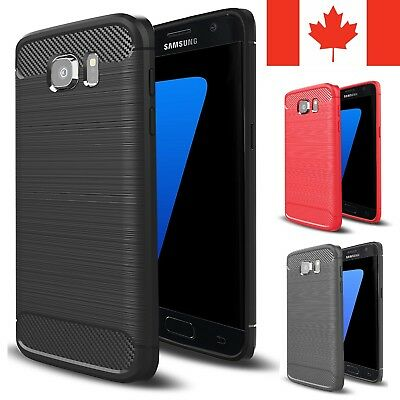$ CDN6.95 • Buy For Samsung Galaxy S7 / S7 Edge Case - Shockproof Carbon Fiber TPU Armor Cover