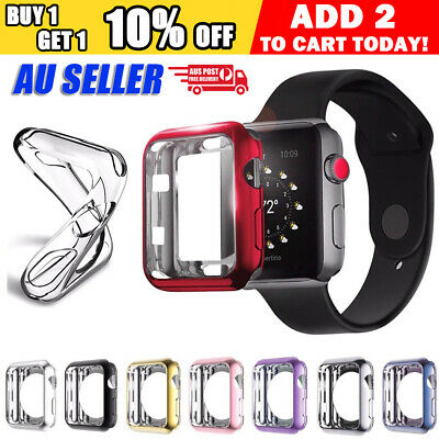 AU4.95 • Buy 38 40 42 44 Mm IWatch 3 4 5 6 Case Cover For Apple Watch Protector TPU Soft
