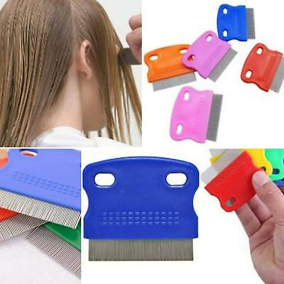 Nitty Hair Comb Head LICE METAL Nit Kids Children's Plastic Treatment Shampoo UK • 2.99£