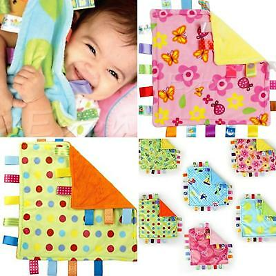 £5.99 • Buy Taggie Blanket Soft Toy Baby Babies Sensory Activity Fiddler Tag Loops Comforter