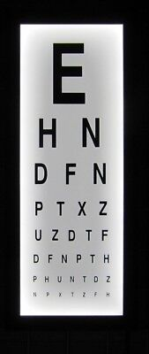 Eye Test Chart Wall Light Box Mounted Medical Opticians Display Games Room Decor • 55£