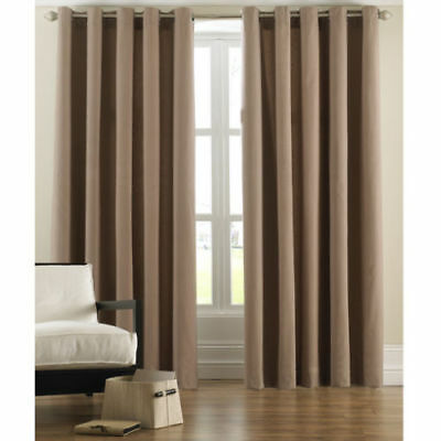 £36.99 • Buy Cord Ring Top Curtains Beige/camel/mocha /coffee 100% Cotton