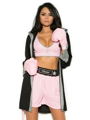 £43.84 • Buy Womens Halloween Costume Prizefighter Boxer Girl Boxing Roleplay
