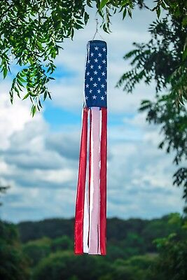 $ CDN10.11 • Buy NEW American Flag 60  Long Windsock   Show United States Patriotic Support