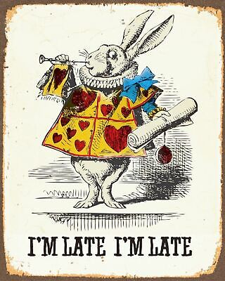 £4.99 • Buy METAL VINTAGE SHABBY-CHIC TIN SIGN ALICE IN WONDERLAND PLAQUE  D3 A5