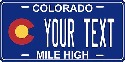 Colorado Flag License Plate Personalized Custom Car Bike Motorcycle Moped Tag • 12.09£