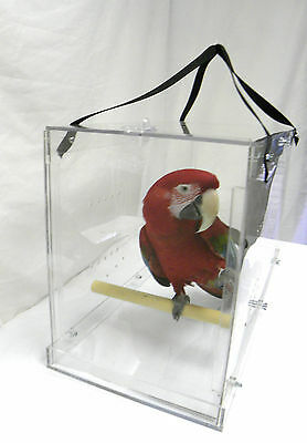 £144.73 • Buy Large Bird Carrier , Solid Acrylic  Parrot Macaw Travel