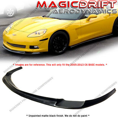 $138 • Buy For 06-13 Chevy Corvette C6 BASE Models - ZR1 ZR Style Front Bumper Lip Splitter