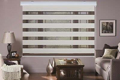 AU29.95 • Buy MODERN Zebra Double Roller Blinds Commercial Quality 60-240cm Wide 4 Colors