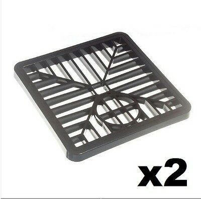 £3.49 • Buy 2 X BLACK PLASTIC SQUARE DRAIN GULLEY GRID COVER 150MM 6 INCH (2 PACK)