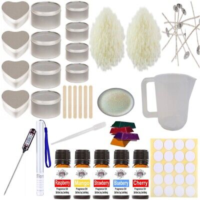 £35 • Buy Soy Wax Candle Making Kit 15 - Beginner Set Tins Fruity Fragrance Colour Glitter