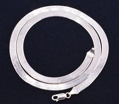 $ CDN66.64 • Buy 5mm Flexible Herringbone Chain Necklace Real Solid Sterling Silver 925 Italy
