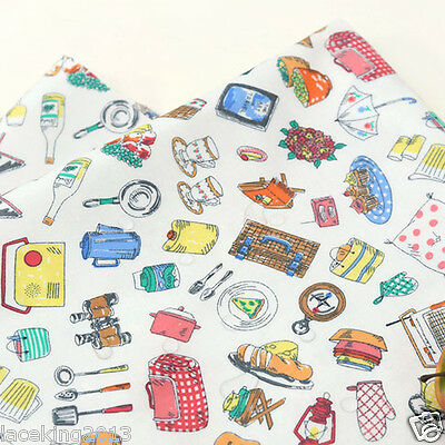 Laminated Cotton Fabric By The Yard 44  Wide Cozy Let's Go Camping Laceking2013 • 14£
