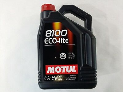 $ CDN52.24 • Buy 108214 Motul 8100 ECO-lite 5W30 100% Synthetic Performance Engine Oil (5 Liter)