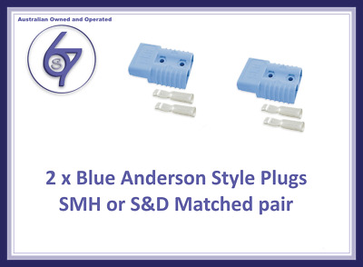AU7.15 • Buy 2x Blue Anderson Plugs 50 Amp Premium Heavy Duty