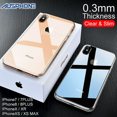 AU4.99 • Buy IPhone X XS Max XR 8 7 Shockproof Slim Crystal Clear  Hard Case Cover For Apple