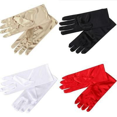 £2.21 • Buy Short Wrist Gloves Smooth Satin For Party Dress Prom Evening Wedding For Lady W/