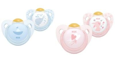 AU10.75 • Buy NUK Rose And Blue Latex Soothers 2 Pack