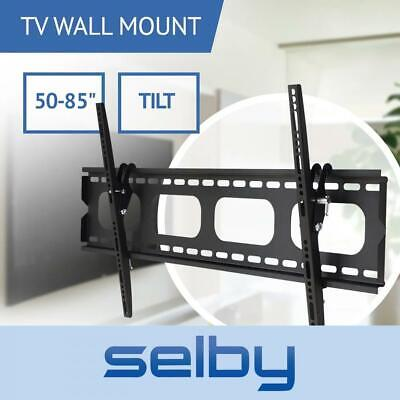 AU54 • Buy 50-75  Inch 100kg Slimline Universal TV Tilt Wall Mount Bracket Selby