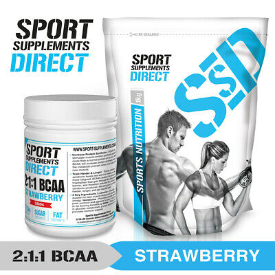 AU22.51 • Buy Strawberry Bcaa 2:1:1 - Flavoured Branched Chain Amino Acid 100g - 500g - 1kg