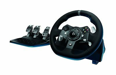 $375.69 • Buy Logitech G920 Driving Force Feedback Racing Steering Wheel & Pedals Xbox One PC