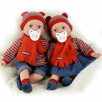16  Realistic Baby Dolls With Freckles Soft Body Doll Sounds Dummy Closing Eyes • 13.99£
