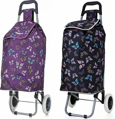 47L Hoppa Lightweight Folding 2 Wheeled Shopping Trolley Cart Bag Shopper Case  • 16.99£