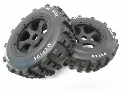 £33.63 • Buy Rovan 1/5 Scale Truck Dirt Knobby Tires/Wheels 195x75 HPI Baja 5T Front Size (2)