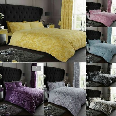 £15.49 • Buy New Empire Damask Pattern Duvet Cover Set Bedding Set With Pillowcases All Sizes