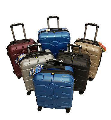 ABS Hard Shell Trolley Suitcase 4 Wheel Spinner Lightweight Luggage Travel Case • 5.99£