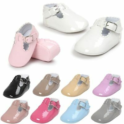 Newborn Baby Girl Soft Sole Princess Shoes Toddler Crib Moccasin Boots UK 0-18M • 4.15£