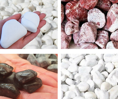 £5.99 • Buy 1-20kg Decorative Stones Pebbles Chippings GARDEN MARBLE Gravel Landscaping PATH