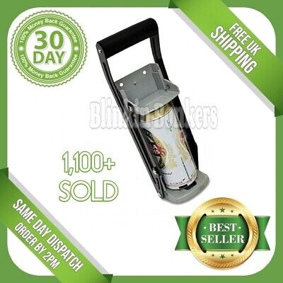 Heavy Duty Large 16oz 500ml Metal Tin Beer Big Can Crusher Squasher Wall Mount • 11.69£