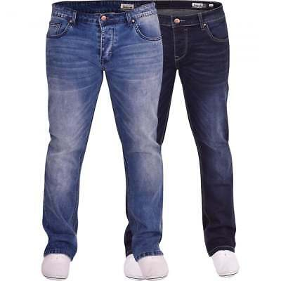 Duck And Cover Men's Bootcut Flared Wide Bottom Loose Fit Denim Jeans • 24.99£