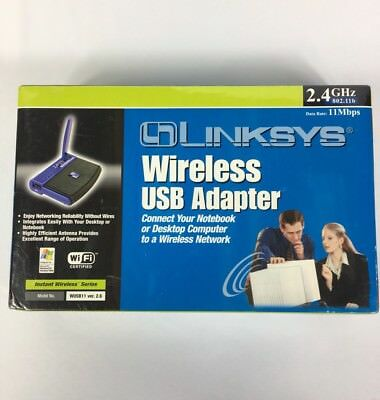 $21.85 • Buy Linksys Wireless B USB Network Adapter Model No WUSB11 Networking Connectivity