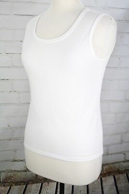 $20.80 • Buy SPORTHILL Sleeveless Tank Top Womens Small White Polyester Knit Shirt Activewear