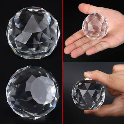 £6.99 • Buy 50mm Cut Crystal Sphere Prisms Glass Ball Faceted Gazing Suncatcher Crafts IS