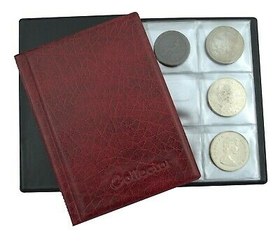 £4.99 • Buy COIN ALBUM FOR 48 LARGE SIZE BIG COINS POCKET SIZE NEW Collecting Coins Red