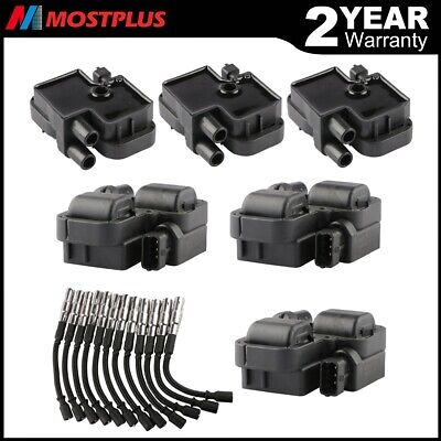 $92.99 • Buy New Ignition Coils W/ Plug Wire Sets For Mercedes-Benz C CL CLK ML Class