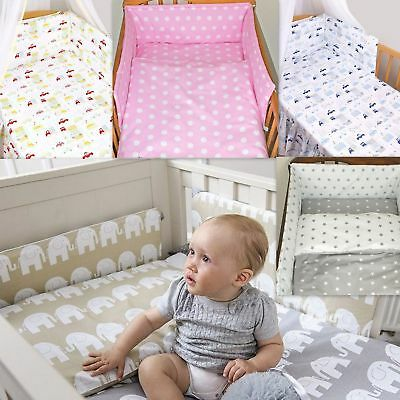 3-7 Pcs Baby Nursery Bedding Set GIRLS/BOYS Fit To COT BED 140x70cm 100% COTTON • 14.99£