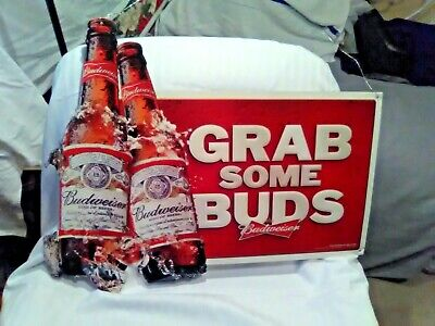 $ CDN94.96 • Buy Budweiser  Grab Some Buds  Metal Sign