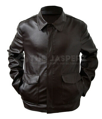 Indiana Jones Harrison Ford Brown Leather Jacket • 90.62£