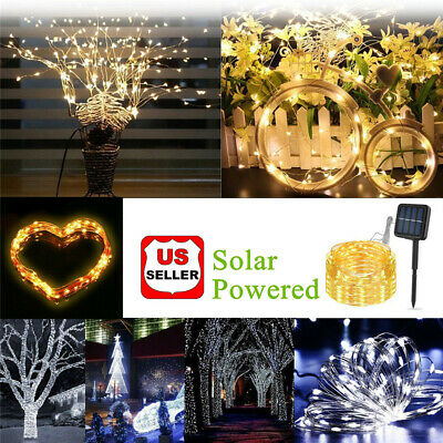 $7.98 • Buy  Solar LED String Lights 100 Copper Wire 33ft Waterproof Outdoor Fairy LED Decor