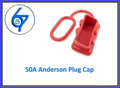 AU1.95 • Buy DUST CAP COVER RED ANDERSON PLUG 50 AMP DUAL BATTERY 50a