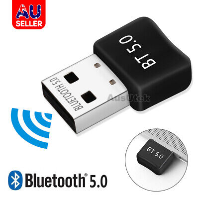 AU7.95 • Buy Bluetooth V5.0 USB Dongle Adapter For PC Desktop Computer WIN 10