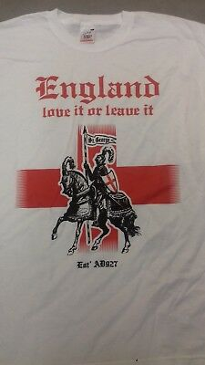 England Love It Or Leave It T Shirt,St George. George Cross T Shirt Flag • 7.99£